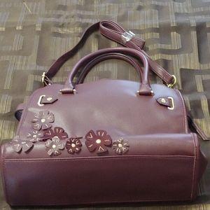 Handbags - Purple Flowers Satchel/Crossbody